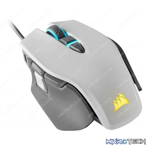 Corsair M65 RGB Elite 18,000 DPI Tunable White Wired Optical Gaming Mouse