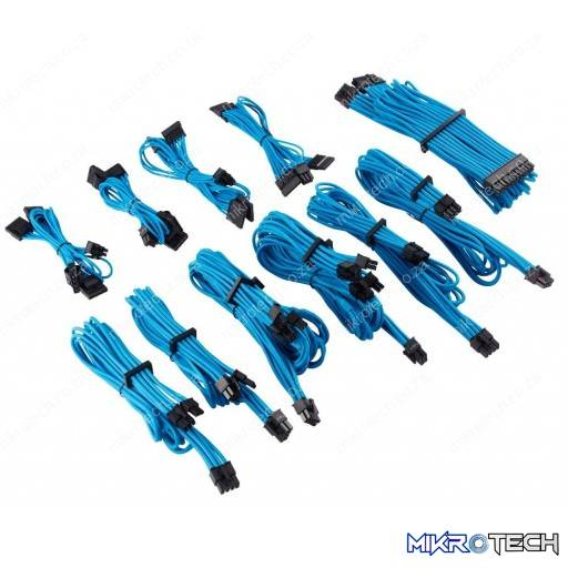 Corsair Premium Individually Sleeved Pro Kit Type 4 Gen 4 Blue PSU Cables