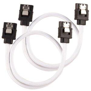 Corsair Premium Sleeved SATA 6Gbps 60cm White SATA Cable