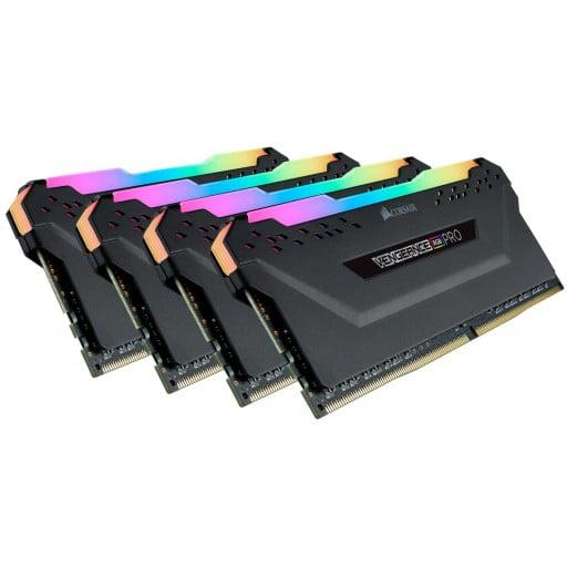 CorsairVENGEANCE RGB PRO 128GB (4x32GB) DDR4-3200MHz CL16 1.35V Black Desktop Memory