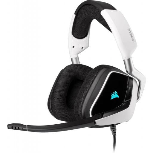 Corsair Void Elite RGB USB 7.1 Surround Sound White Gaming Headset