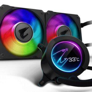 Gigabyte Aorus Liquid Cooler 240 LCD RGB 240mm CPU Cooler