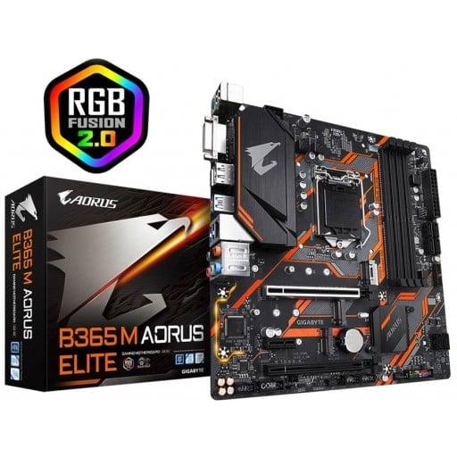 Gigabyte B365 M Aorus Elite Intel B365 M LGA1151 Micro-ATX Desktop Motherboard