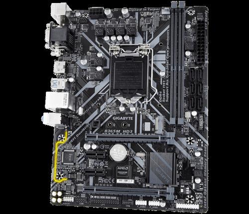 Gigabyte B365M HD3 Intel B365 LGA1151 Micro-ATX Desktop Motherboard