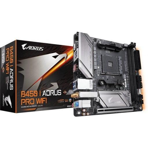 Gigabyte B450 I Aorus PRO WIFI AMD B450 AM4 Socket Mini-ITX Desktop Motherboard