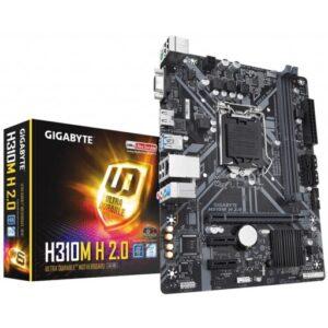 Gigabyte H310M H 2.0 Intel H310 LGA1151 Micro-ATX Desktop Motherboard