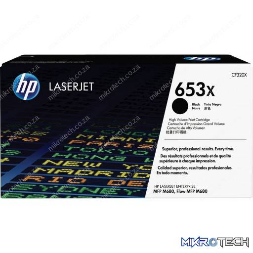 HP CF320X 653X High Yield Black Original LaserJet Toner Cartridge