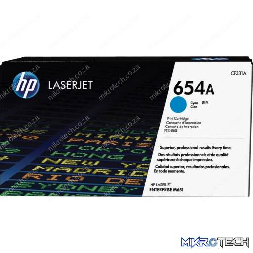 HP CF331A 654A Cyan Original LaserJet Toner Cartridge