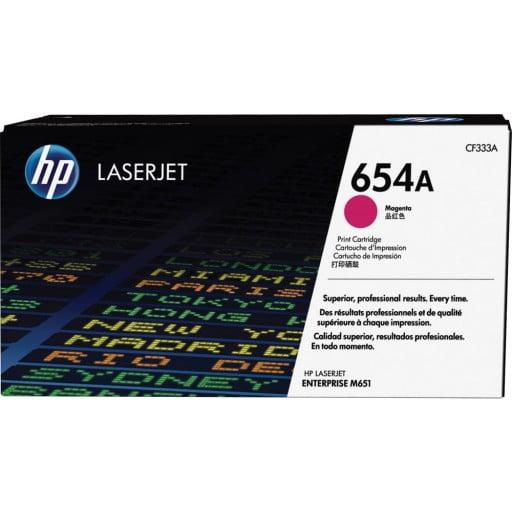 HP CF333A 654A Magenta Original LaserJet Toner Cartridge
