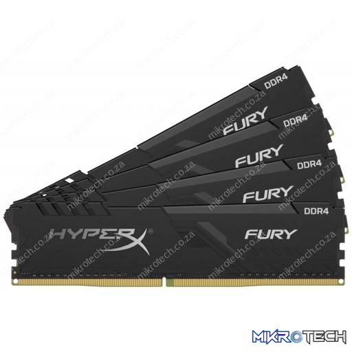 Kingston Hyper-X Fury 128GB (4x32GB) DDR4-3200MHz CL16 1.2V Black Desktop Memory
