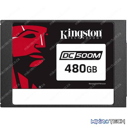 "Kingston SEDC500M/480G DC500M Mixed Use 480GB SATA 3.0 6Gb/s 2.5"" Solid State Drive"
