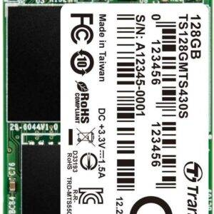 Transcend TS128GMTS430S 430s 128GB 3D NAND Flash SATA III 6Gb/s M.2 2242 Solid State Drive