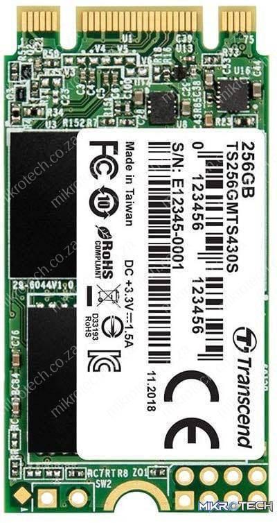 Transcend TS256GMTS430S 430s 256GB 3D NAND Flash SATA III 6Gb/s M.2 2242 Solid State Drive