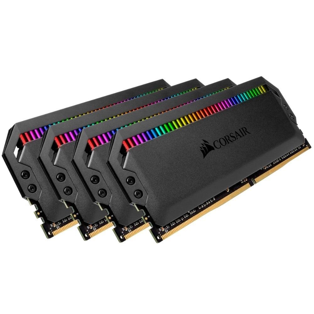 Corsair Dominator Platinum RGB 32GB (4x8GB) DDR4-3200MHz CL16 1.35V 288-Pin Black Desktop Memory