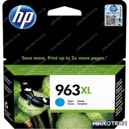 HP 3JA27AE 963XL Cyan Original Ink Cartridge