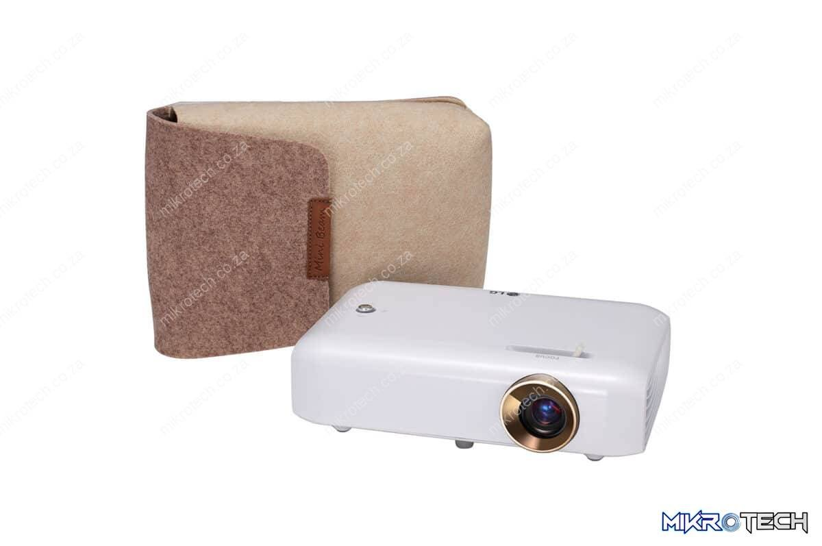 LG PH550G-GL Portable Minibeam with Built-In Battery, Bluetooth Sound Out and Screen Share, 550 Lumen Ultra Short Throw LED Projector