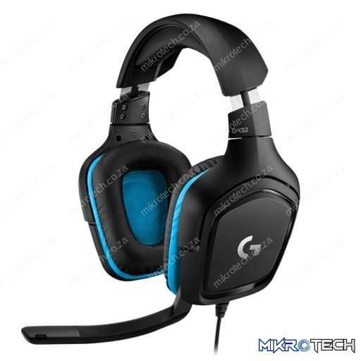 Logitech G432 7.1 Virtual Surround Sound Black/Blue Gaming Headset