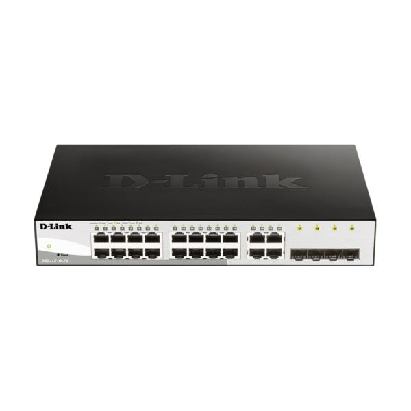 D-LINK/NET/16X1GB +4 SFP WEBSMART SWITCH/L2/RM