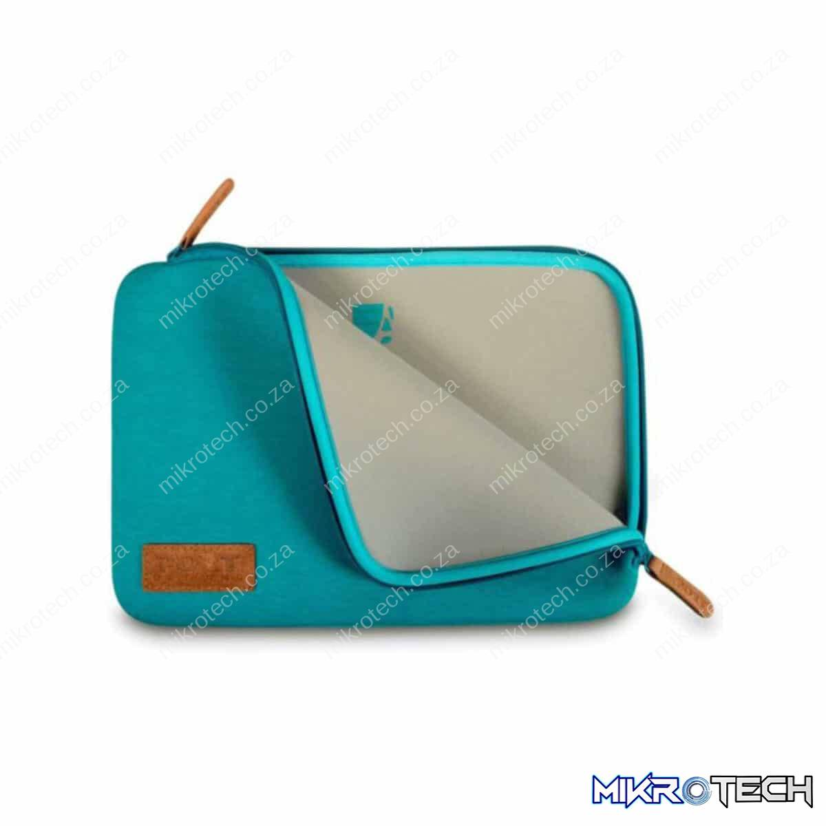 PORT NOTEBOOK SLEEVE TORINO TURQUOISE 13 INCH 1 YEAR CARRY IN WARRANTY