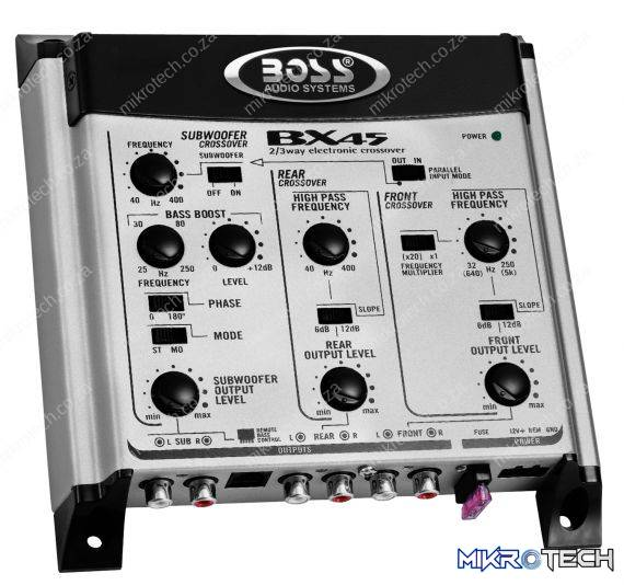 Boss Audio BX45 23-way Crossover w Remote Subwoofer Level Control