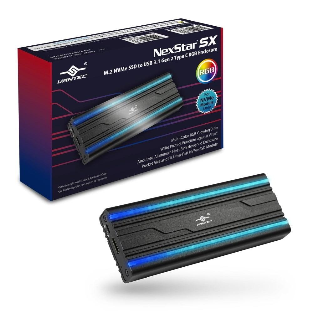 VANTEC NST-207C3-RGB NVME SSD ENCL