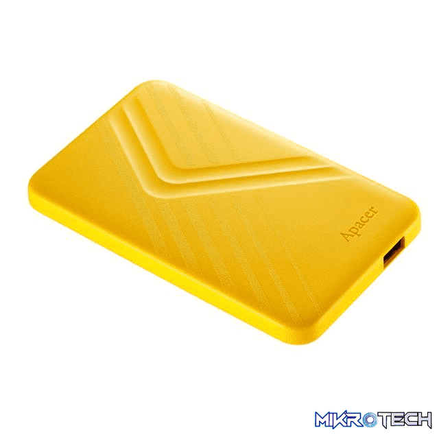 Apacer AC236 2TB Yellow External Hard Drive AP2TBAC236Y-1