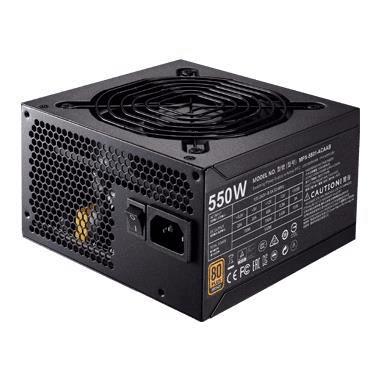 Cooler Master MWE 550 V2 80 PLUS 550W 24-pin ATX Black Power Supply MPE-5501-ACABW-WO