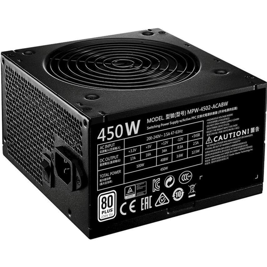 Cooler Master MWE 750 V2 80 PLUS 750W 24-pin ATX Black Power Supply MPE-7501-ACABW-WO