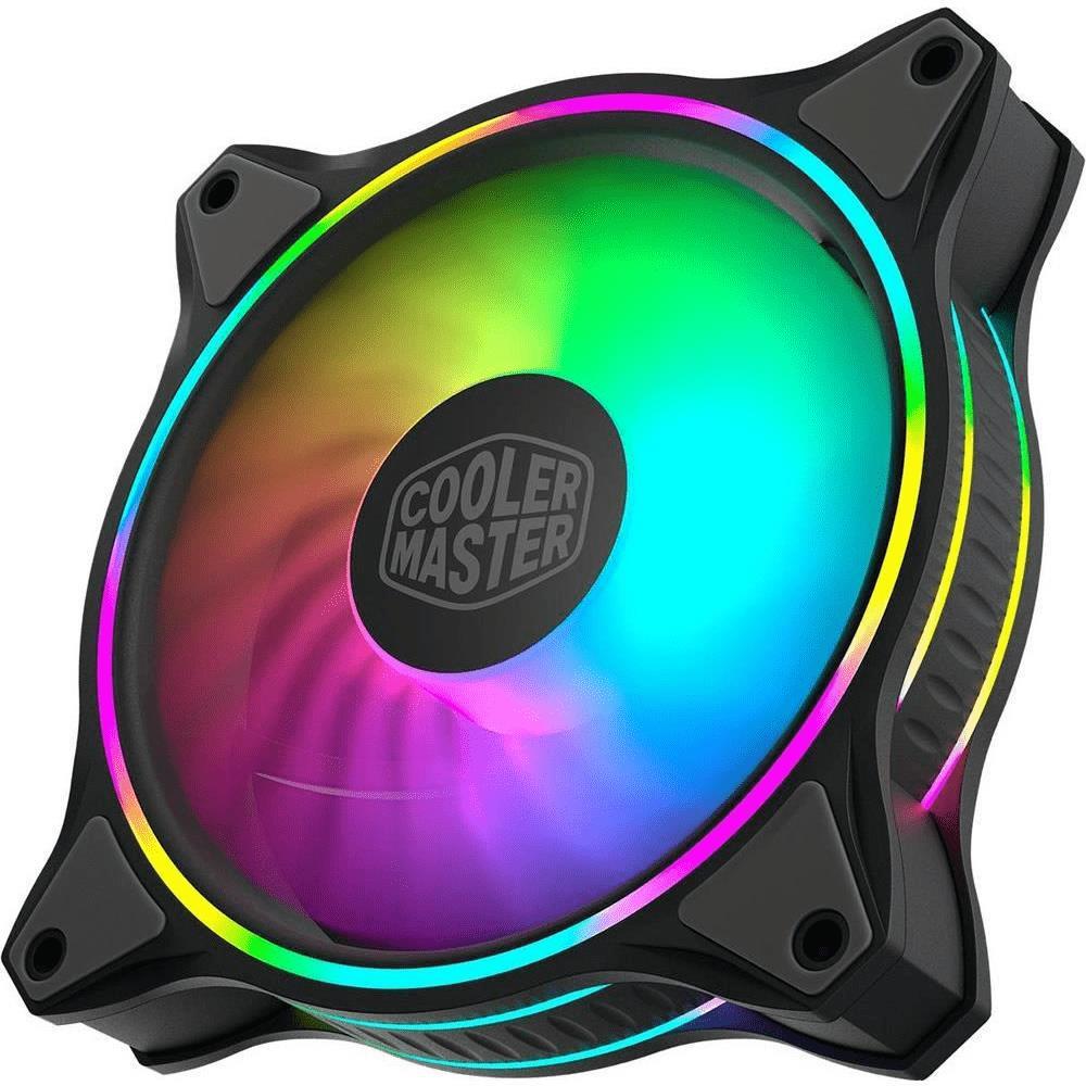 Cooler Master MasterFan MF120 Halo 3in1 Computer Case Fan 120mm Black and Grey 1800rpm MFL-B2DN-183PA-R1