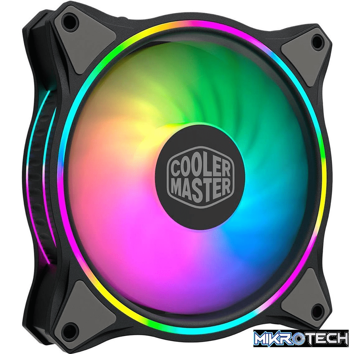 Cooler Master MasterFan MF120 Halo Computer Case Fan 120mm Black and Grey 1800rpm MFL-B2DN-18NPA-R1