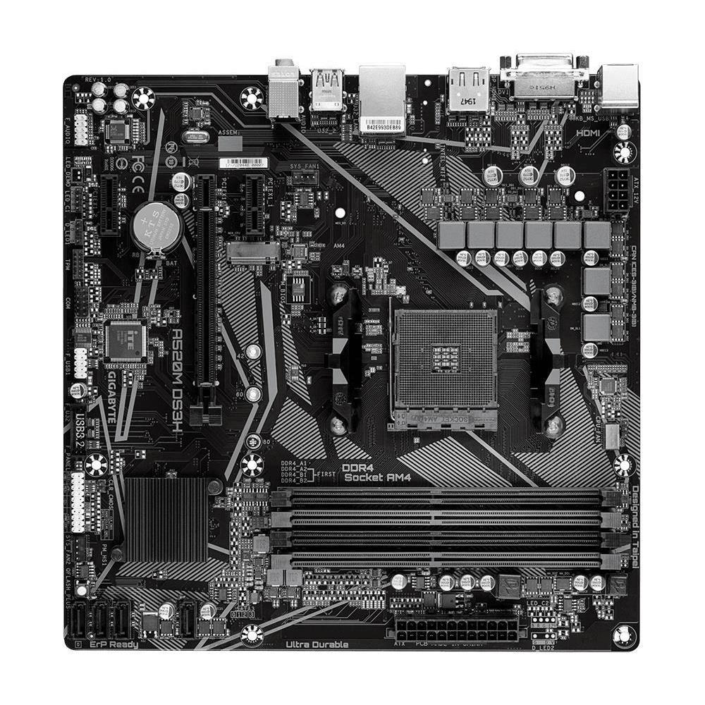 GIGABYTE A520M DS3H AMD Socket AM4 Micro ATX Motherboard GA-A520M-DS3H