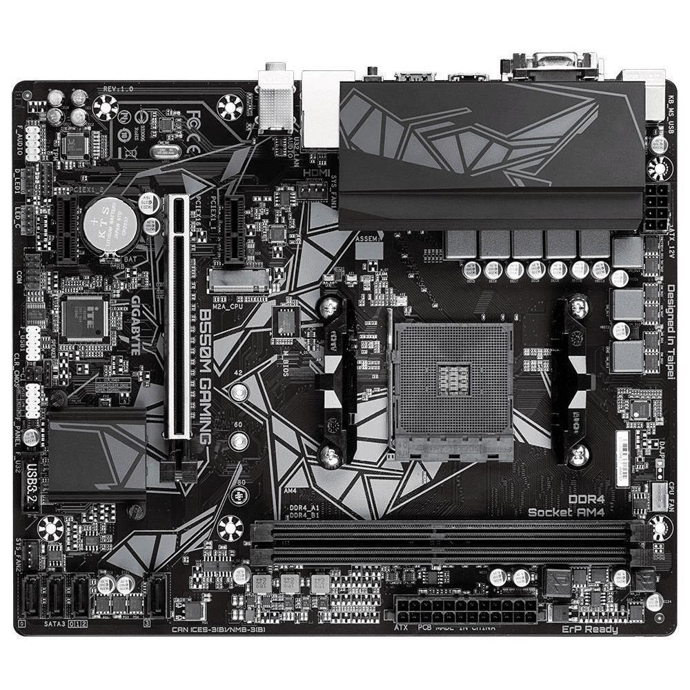 GIGABYTE B550M Gaming AMD Socket AM4 Micro ATX Motherboard GA-B550M-Gaming GA-B550M-GAMING