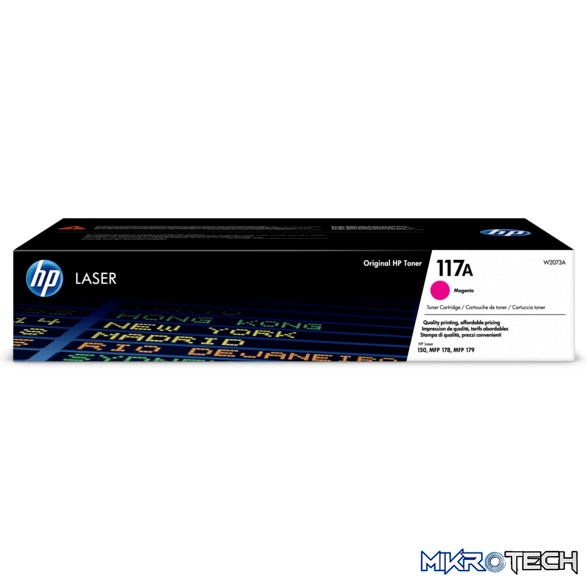 HP 117A Magenta Toner Cartridge 700 Pages Original W2073A Single-pack