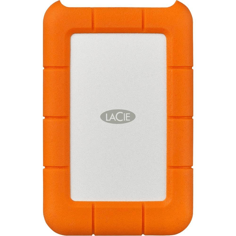 LaCie Rugged USB-C 2TB Orange and Silver External Hard Drive STFR2000800