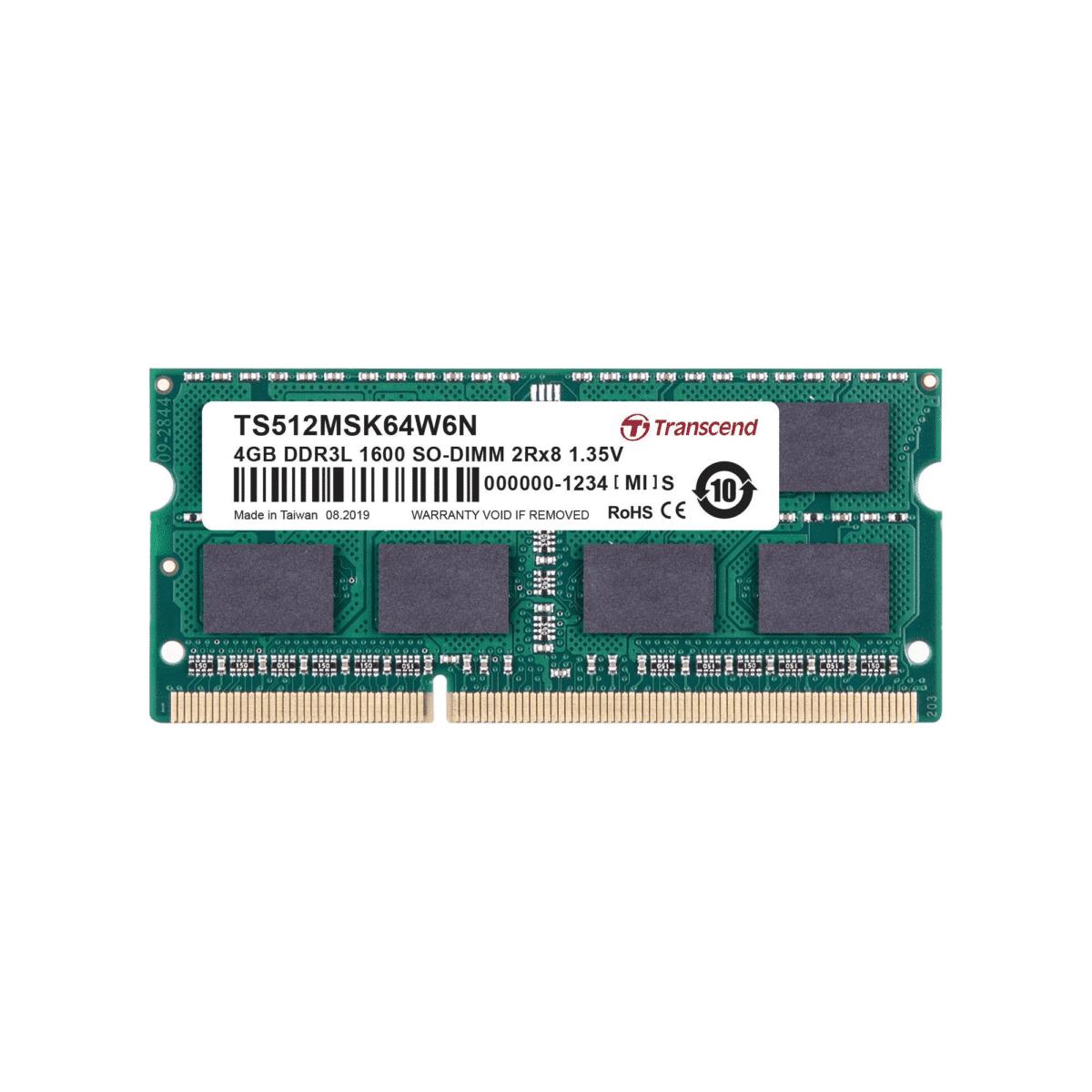 Transcend DDR3-1600 SO-DIMM 4GB TS512MSK64W6N