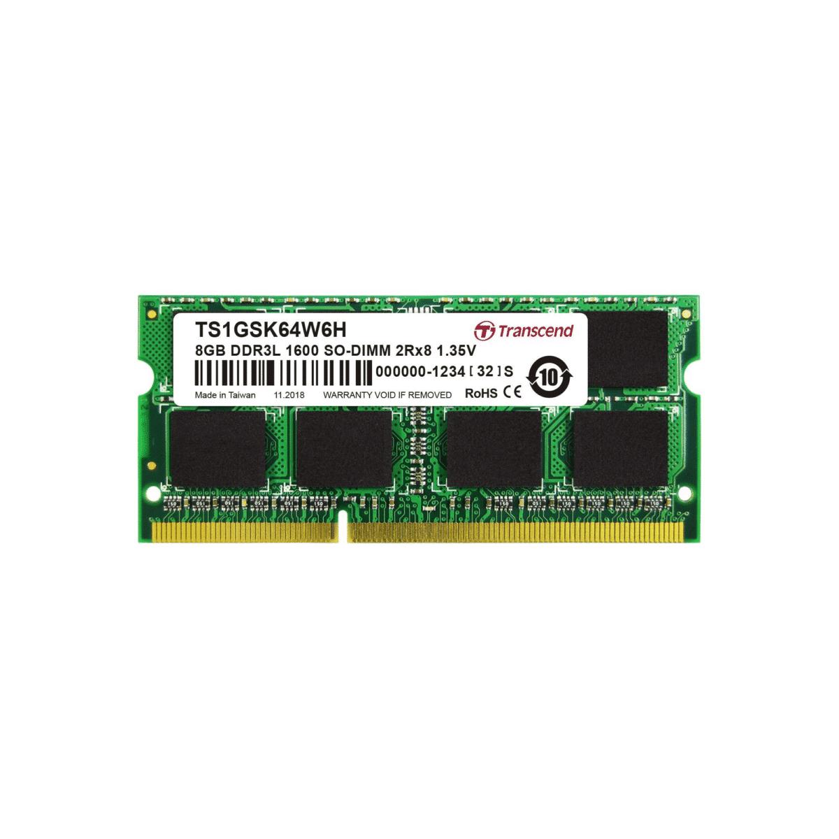 Transcend DDR3-1600 SO-DIMM 8GB TS1GSK64W6H