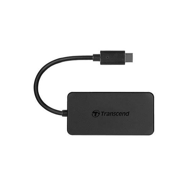 Transcend HUB2C 4-port USB 3.1 Gen 1 Type-C Hub Black TS-HUB2C