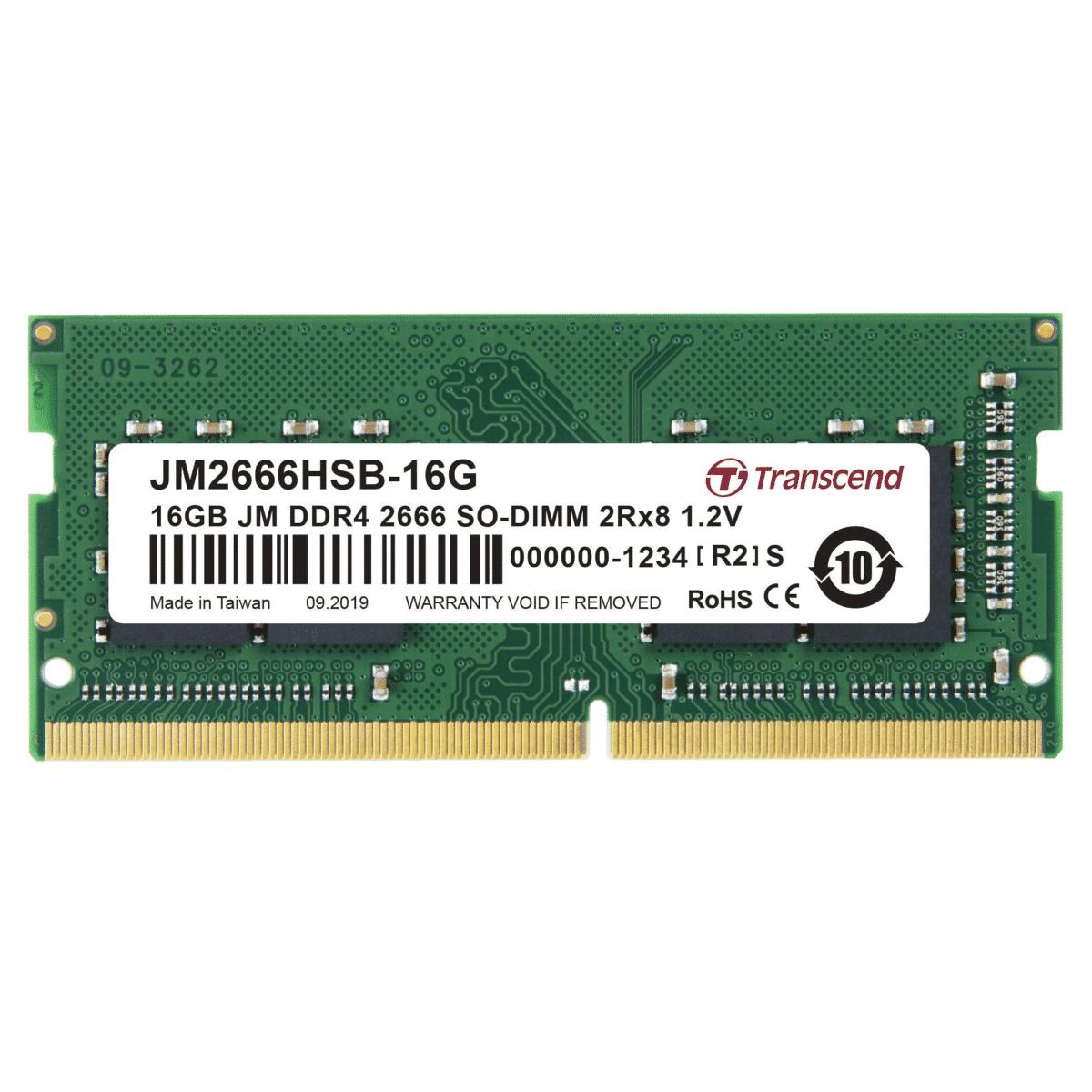 Transcend JetRam DDR4-2666 SO-DIMM 16GB JM2666HSB-16G